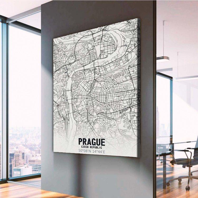 Картина Карта Прага