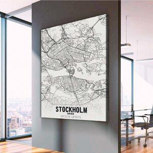 Картина Карта Стокгольм