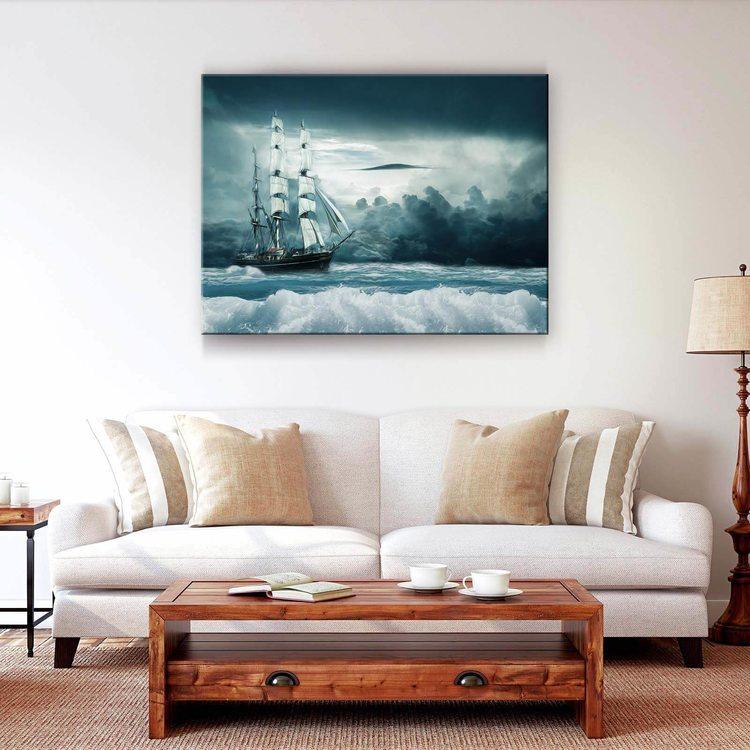Картина Корабль В Бушующем Море - p53786