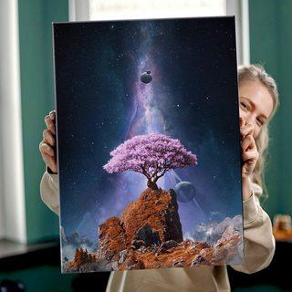Картина Космическая Сакура