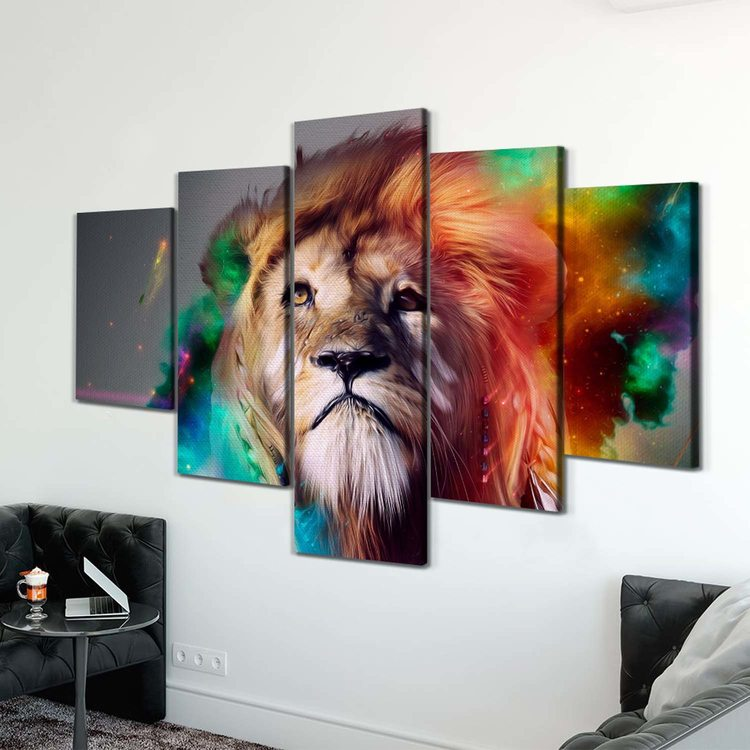 Картина Космический Лев
