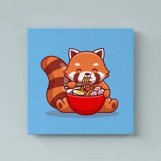 Картина Красная Панда Кушает - p53575