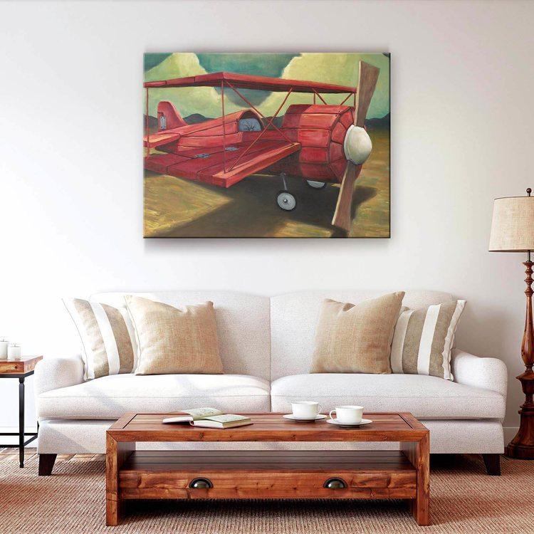 Картина Красный Кукурузник - p53715