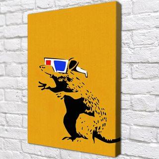 Картина Крыса в очках