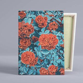 Картина Куст Оранжевой Розы