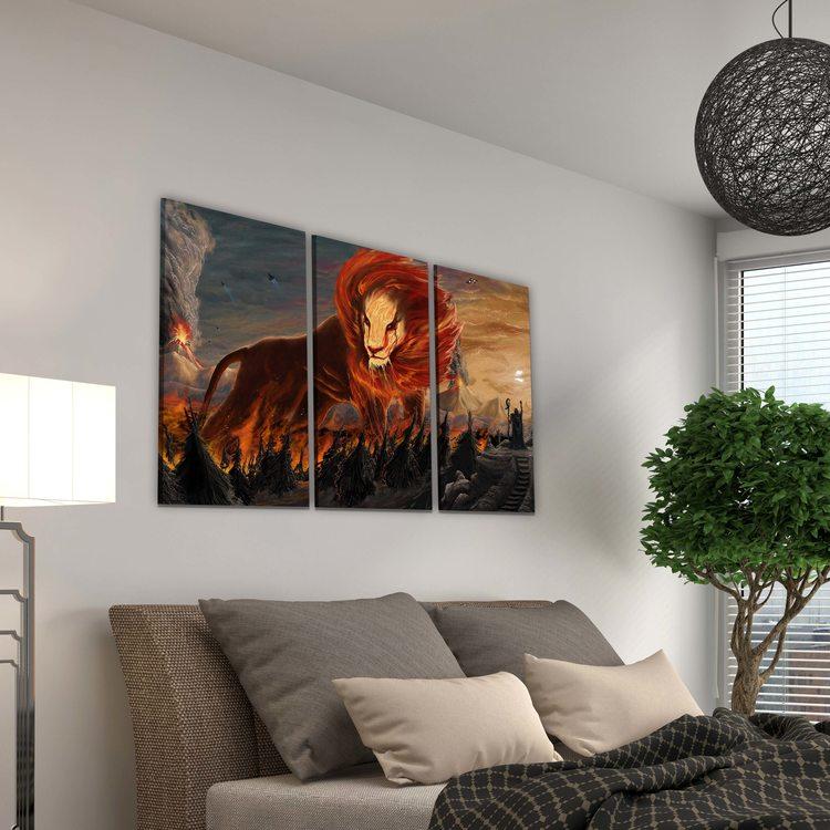 Картина Лавовый Лев