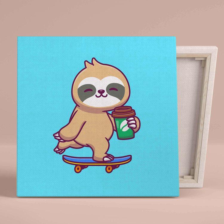 Картина Ленивец На Скейте - p53607