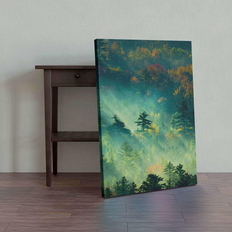 Картина Лес В Солнечных Лучах - p53770
