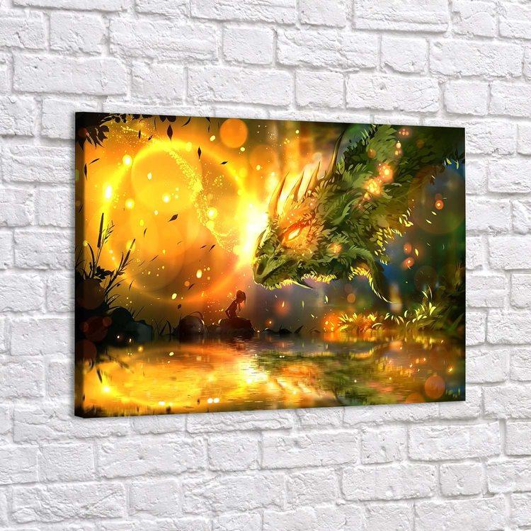 Картина Лесная Фея И Дракон