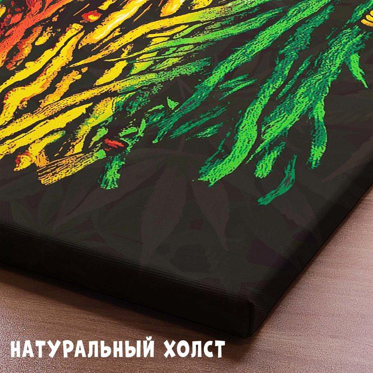 Картина Лев Красно-Зеленый