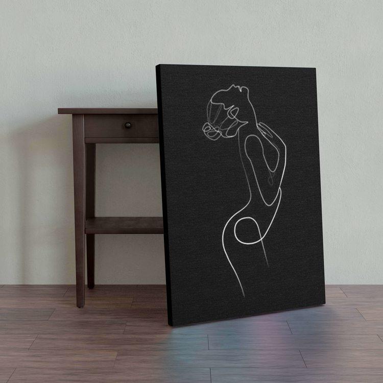 Картина Линейная Девушка - p53747