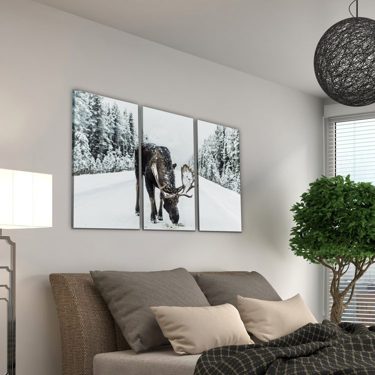 Картина Лось В Зимнем Лесу