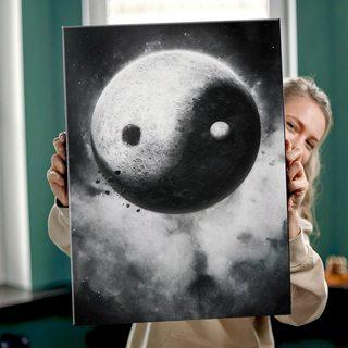 Картина Луна Инь Ян
