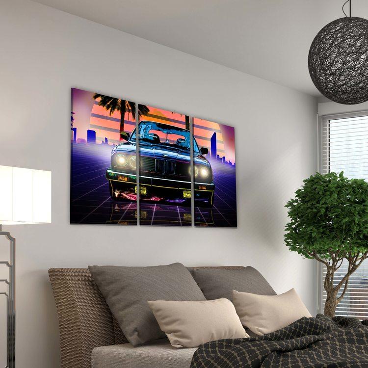 Модульная картина Майами Авто