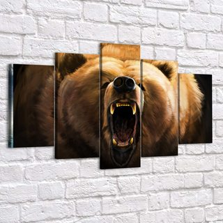 Модульная картина Медведь Гриззли