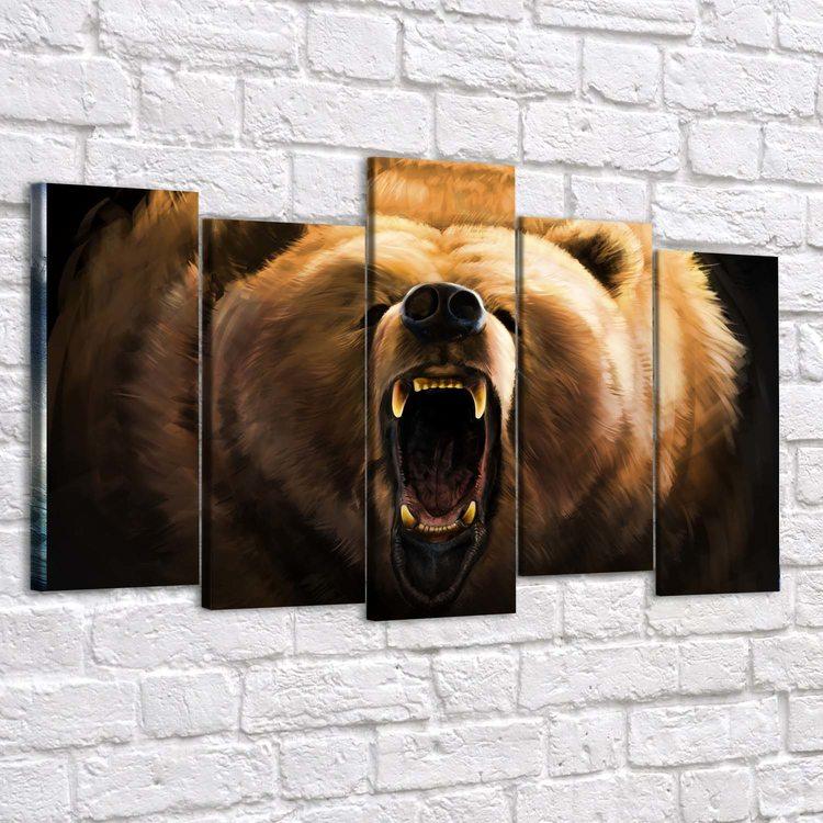 Картина Медведь Гриззли