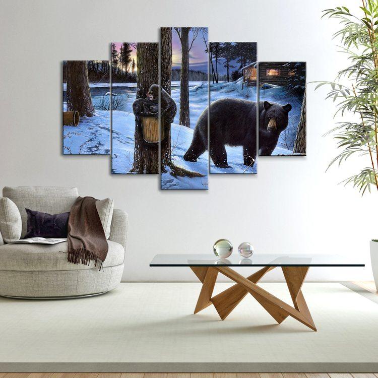 Модульная картина Медвежата