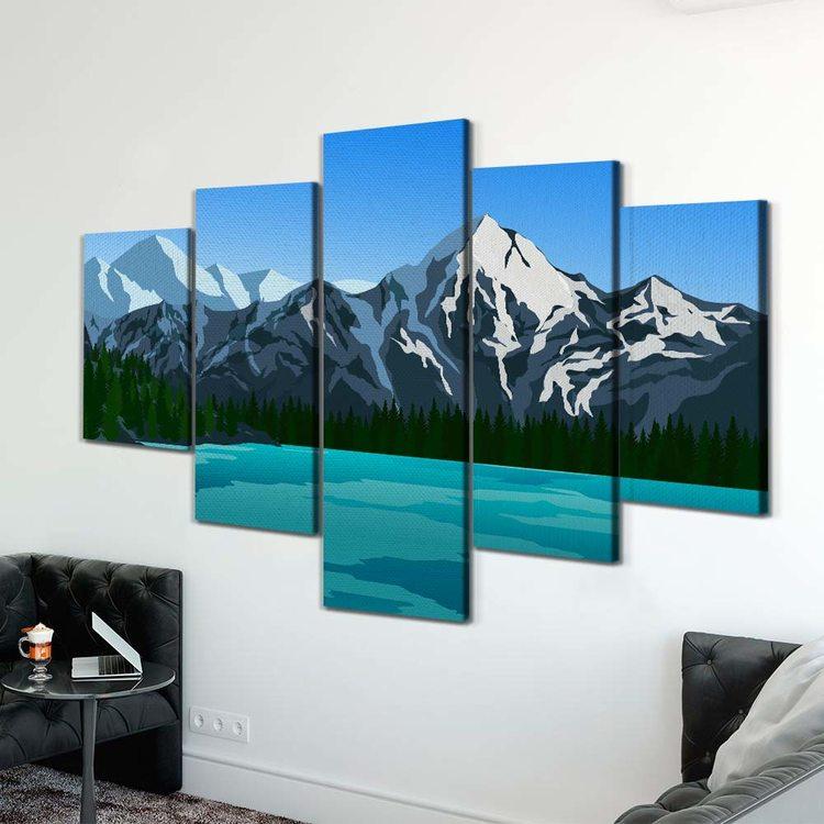 Картина Минималистичные Горы