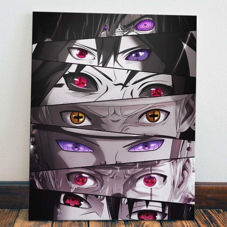 Картина Наруто - Глаза Коллаж