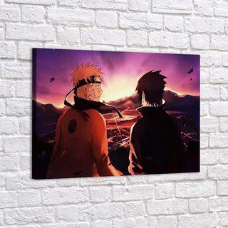 Картина Наруто И Саске - Закат