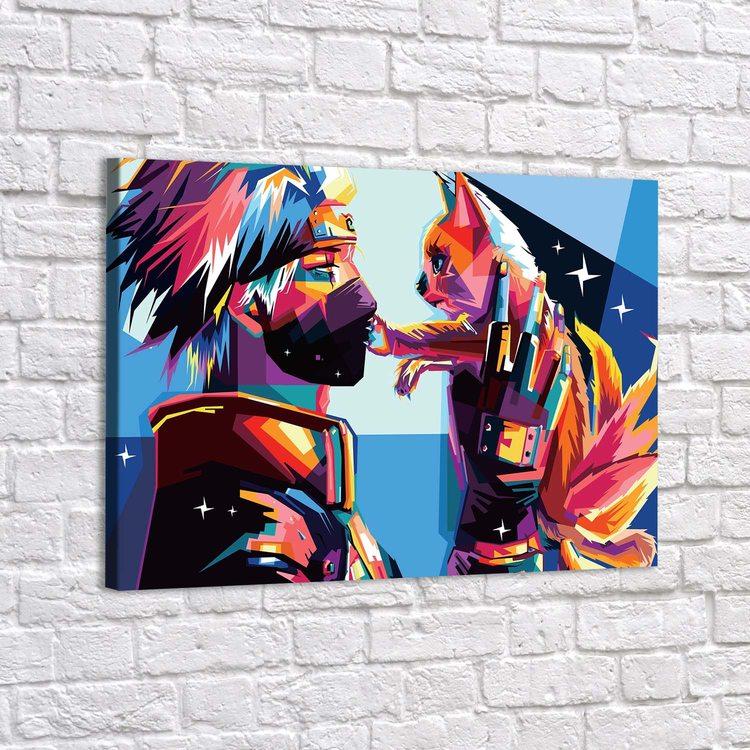 Картина Наруто - Какаси И Кот