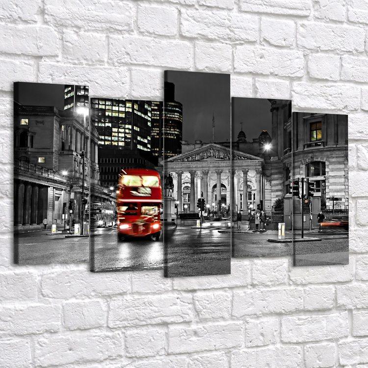 Модульная картина Ночь В Лондоне