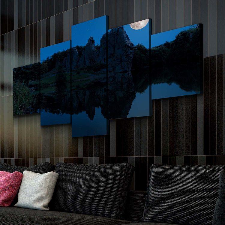 Модульная картина Ночь В Отражении