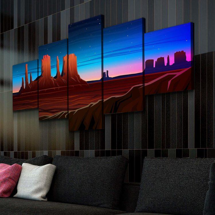 Картина Ночная Пустыня