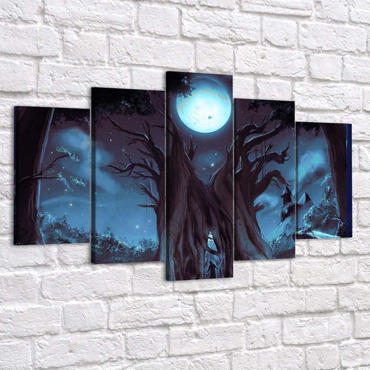 Модульная картина Ночное Древо