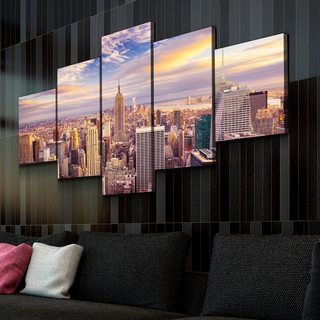 Модульная картина Нью-Йорк - Рассвет