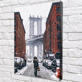 Картина Нью-Йорк в снегу
