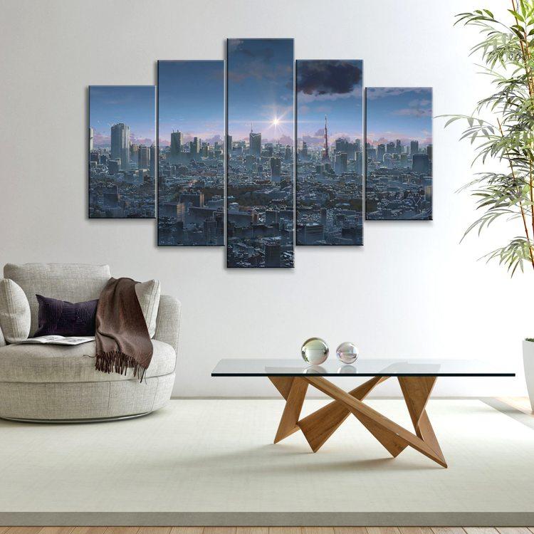 Модульная картина Нью-Йоркская Агломерация