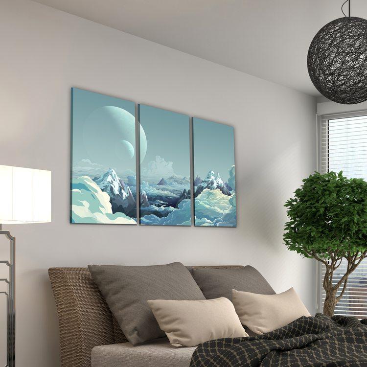 Модульная картина Облачные Горы