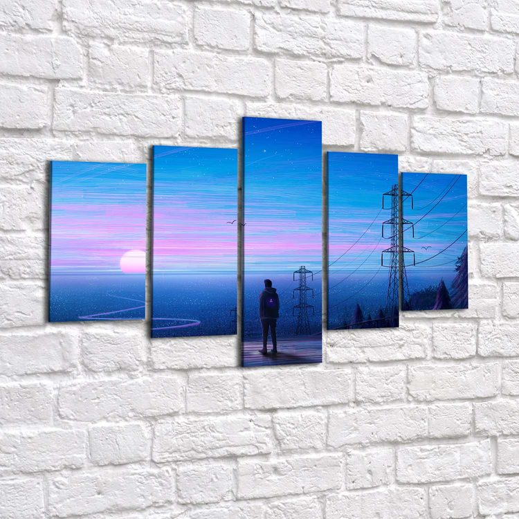 Картина Один В Городе