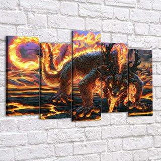 Картина Огненный Саламандр