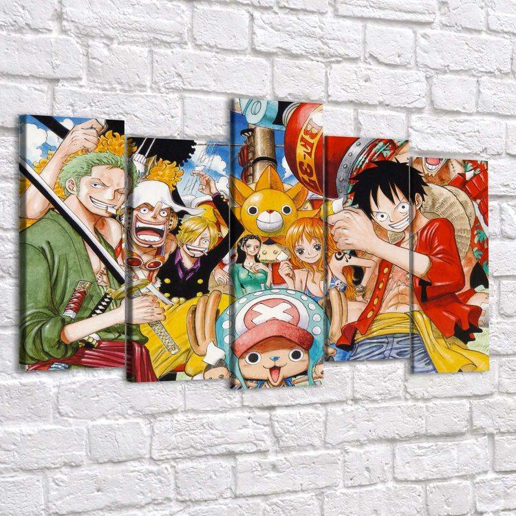 Модульная картина One Piece - Команда