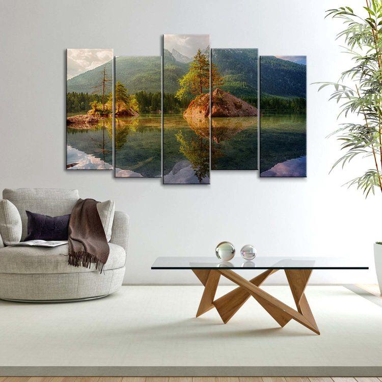 Модульная картина Отражение В Озере