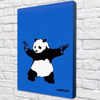 Картина Панда с Пушками