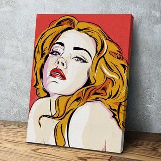 Картина Портрет девушки Поп-Арт
