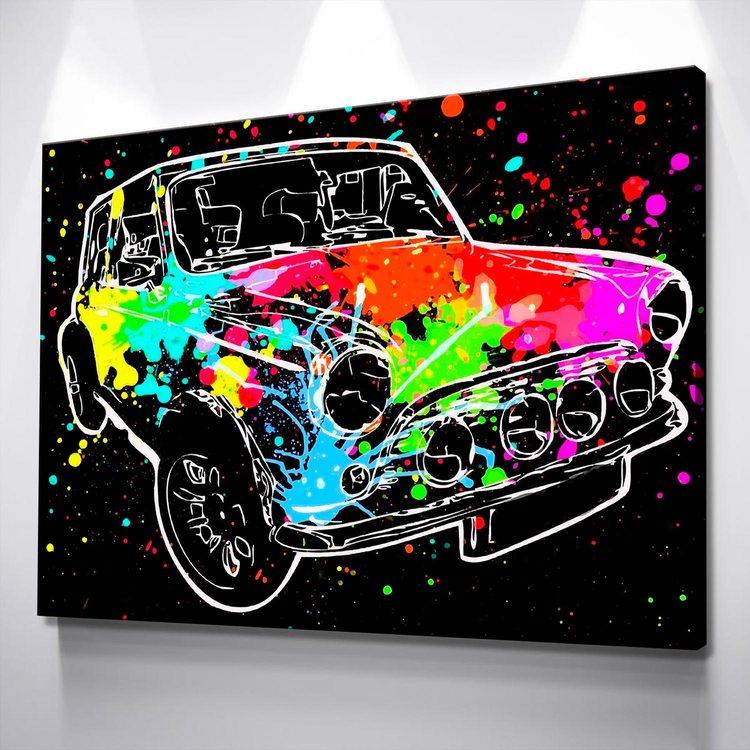 Картина Разноцветная Машина