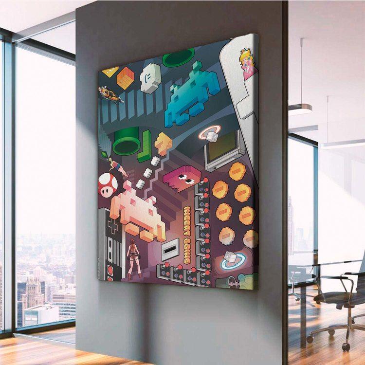 Картина Ретро Денди Пиксель Арт