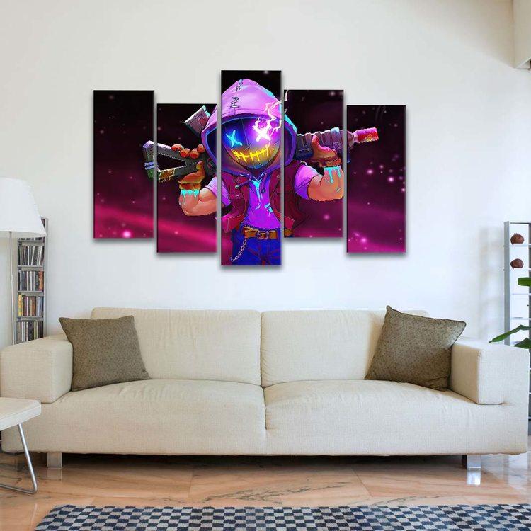 Модульная картина Ретровейв - Abyss Neon