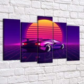 Картина Ретровейв - Lamborghini