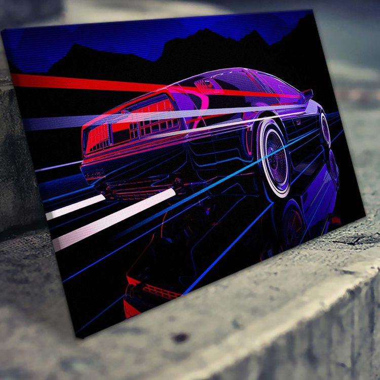 Картина Ретровейв - Скорость