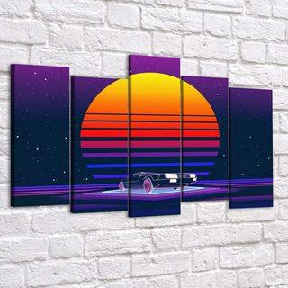 Картина Ретровейв - Sun