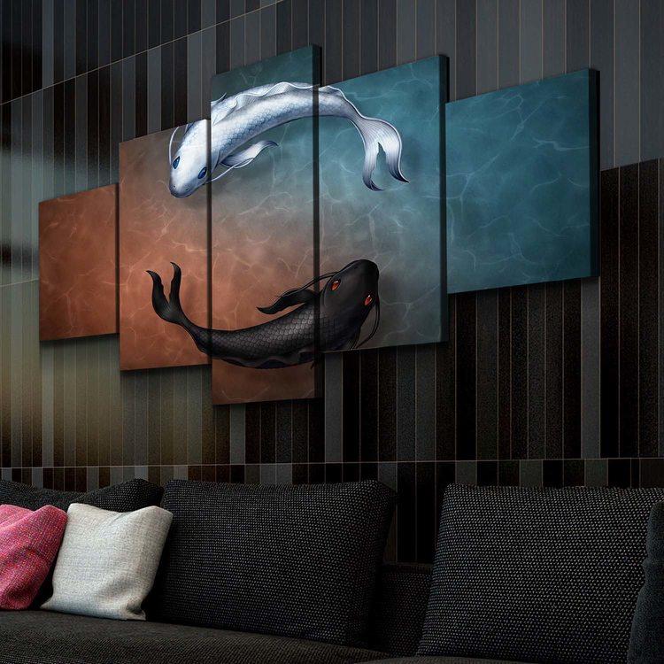 Картина Рыбки Инь И Ян