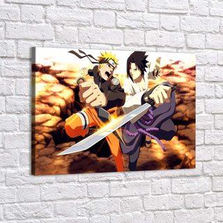 Картина Саске И Наруто