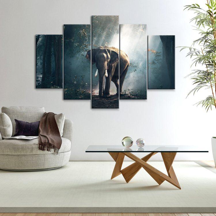 Картина Слон В Джунглях