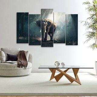 Модульная картина Слон В Джунглях