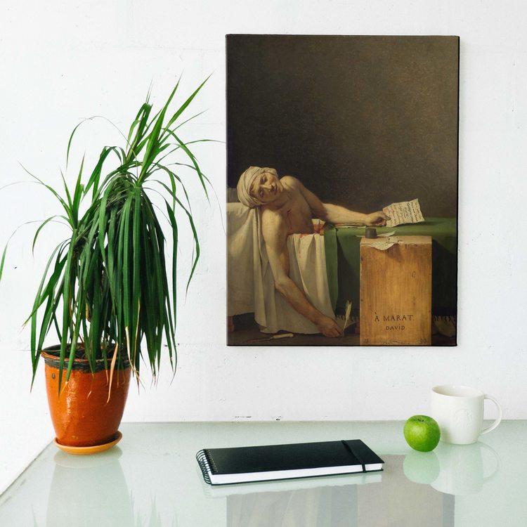 Картина Жак Луи Давид - Смерть Марата